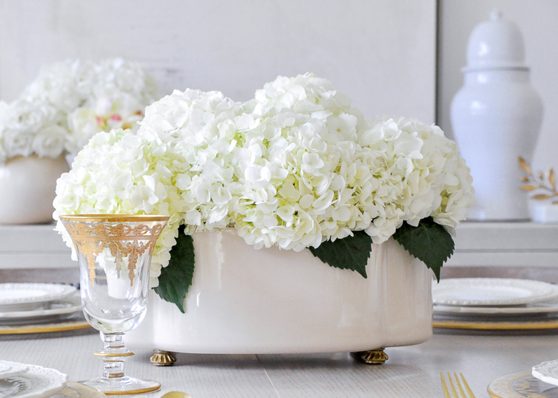 Dining room cream colored planter