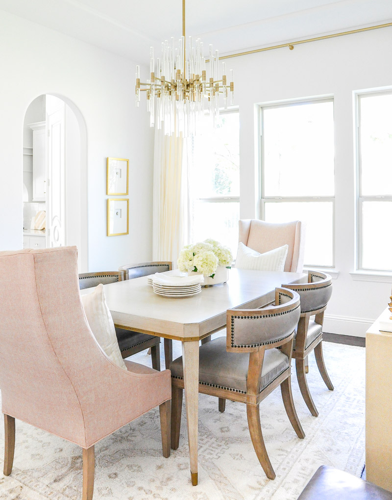 Elegant Dining Room Reveal - Transitional + Stylish ...