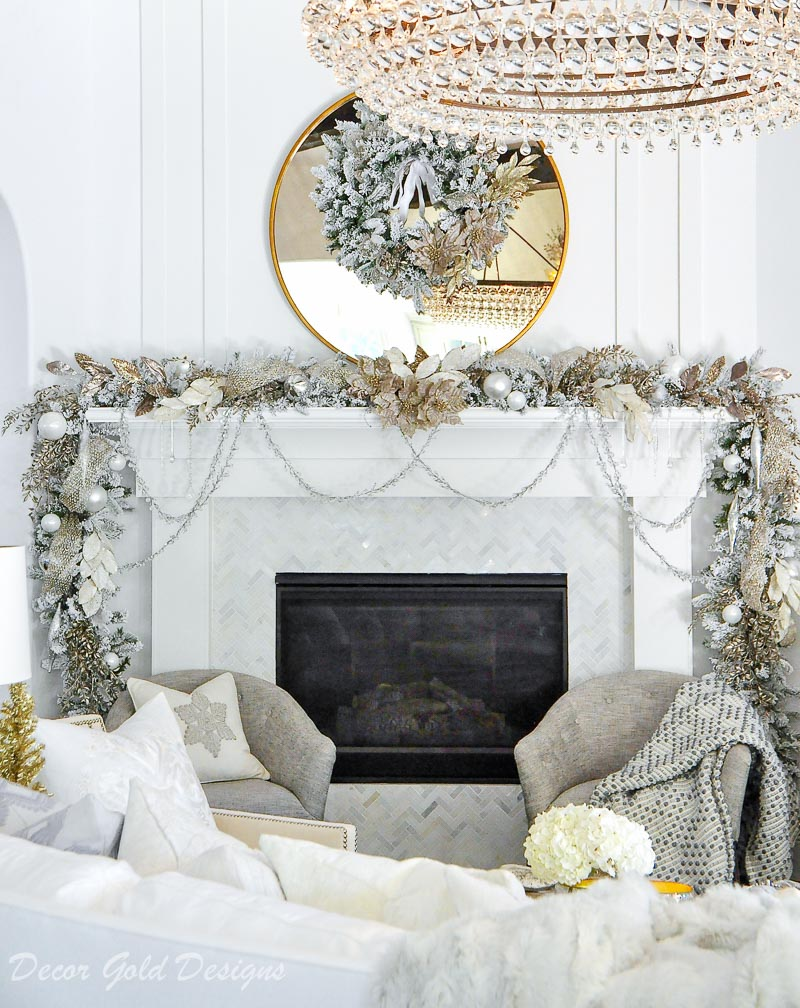 Frontgate Christmans garland wreath mantel