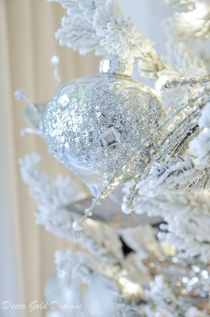 Beautiful Frontgate silver ornaments