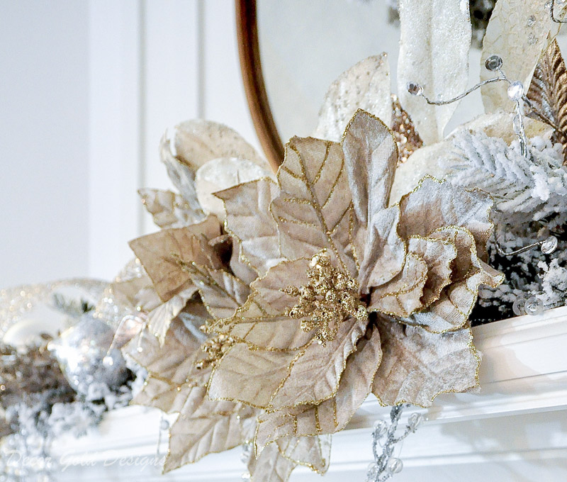 Frontgate taupe Christmas poinsettias