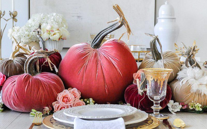 thanksgiving centerpiece cascading pumpkins