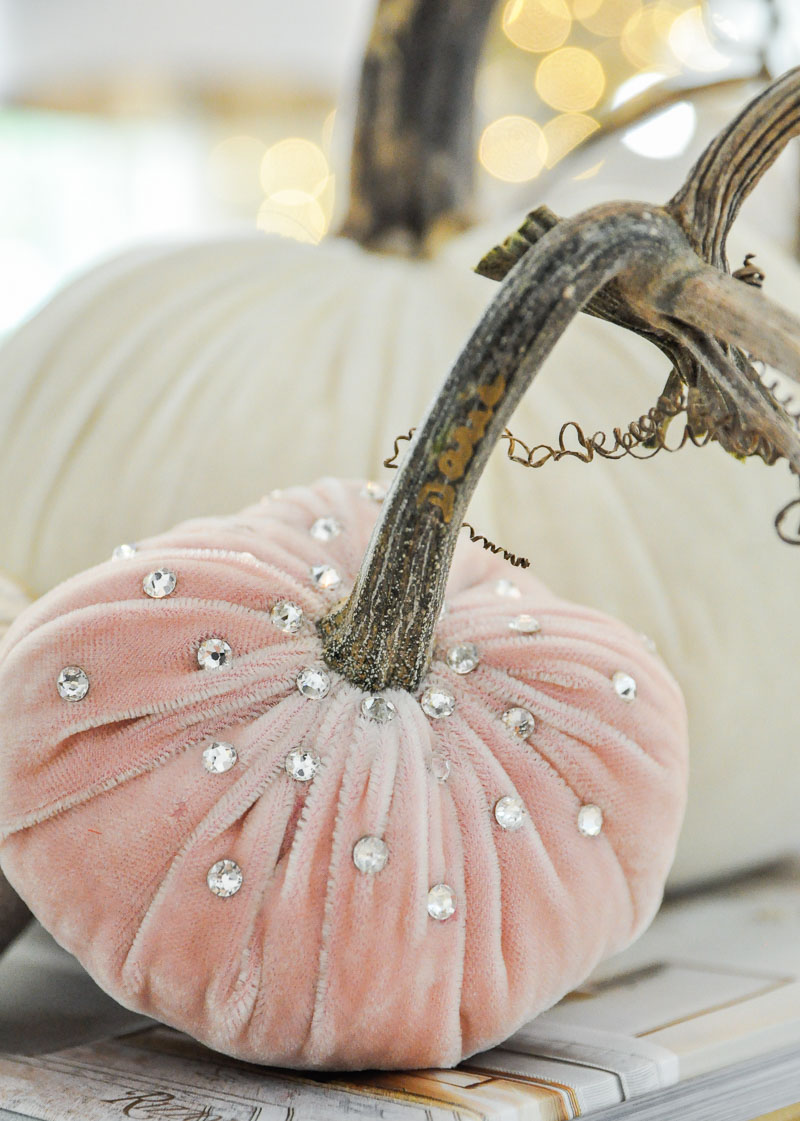 Decorative velvet pumpkins