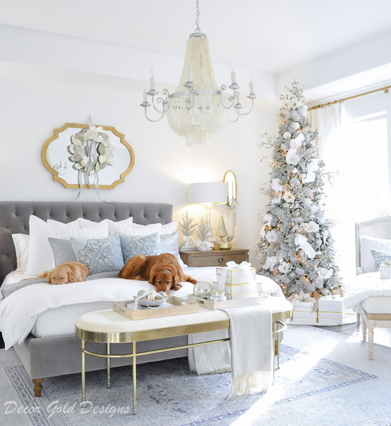 Winter White Christmas Bedrooms , Decor Gold Designs