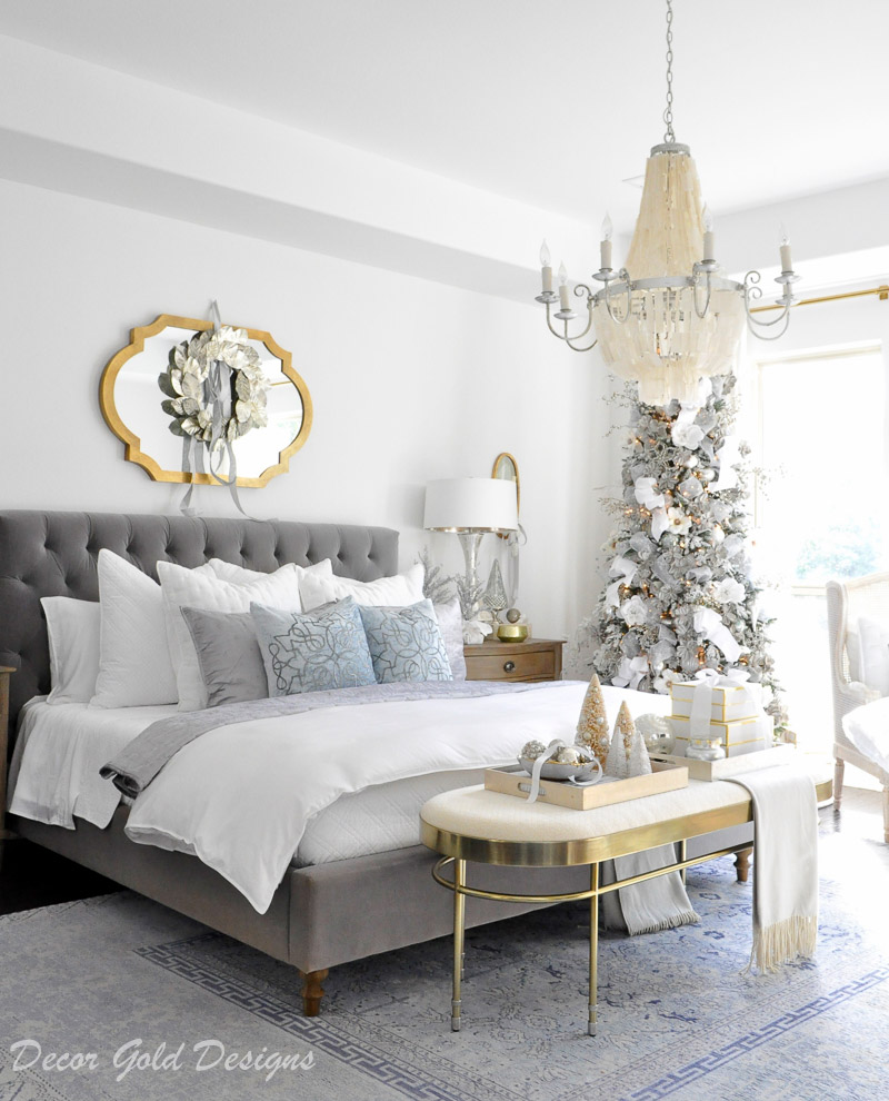 Christmas bedrooms winter white
