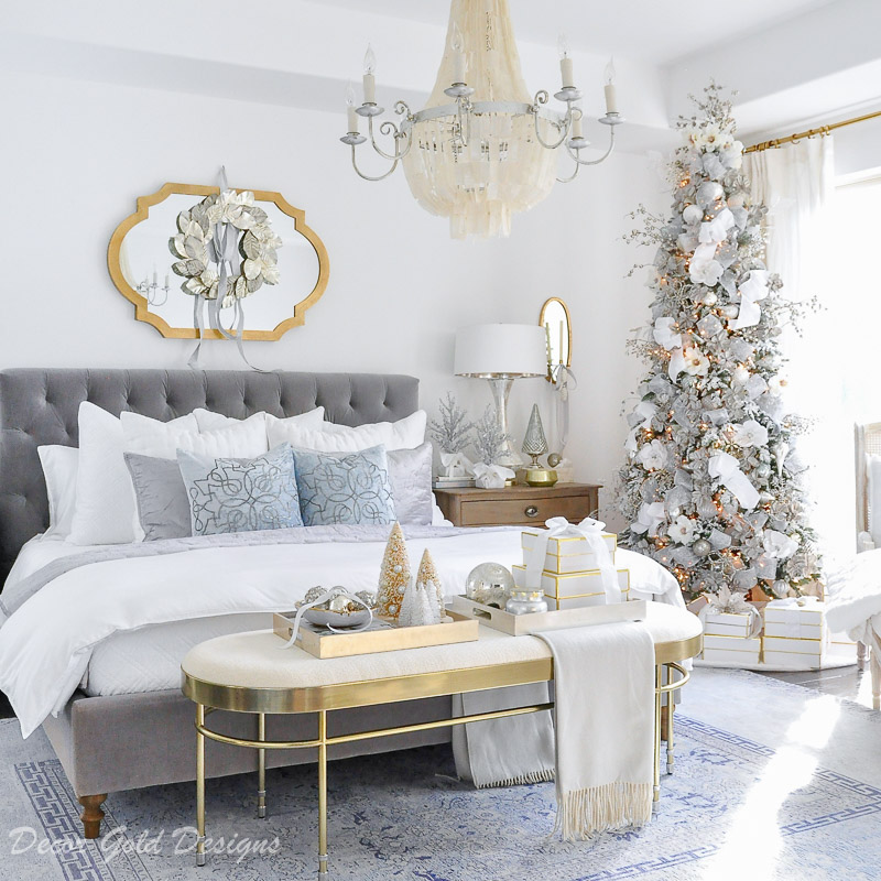 Winter White Christmas Bedrooms