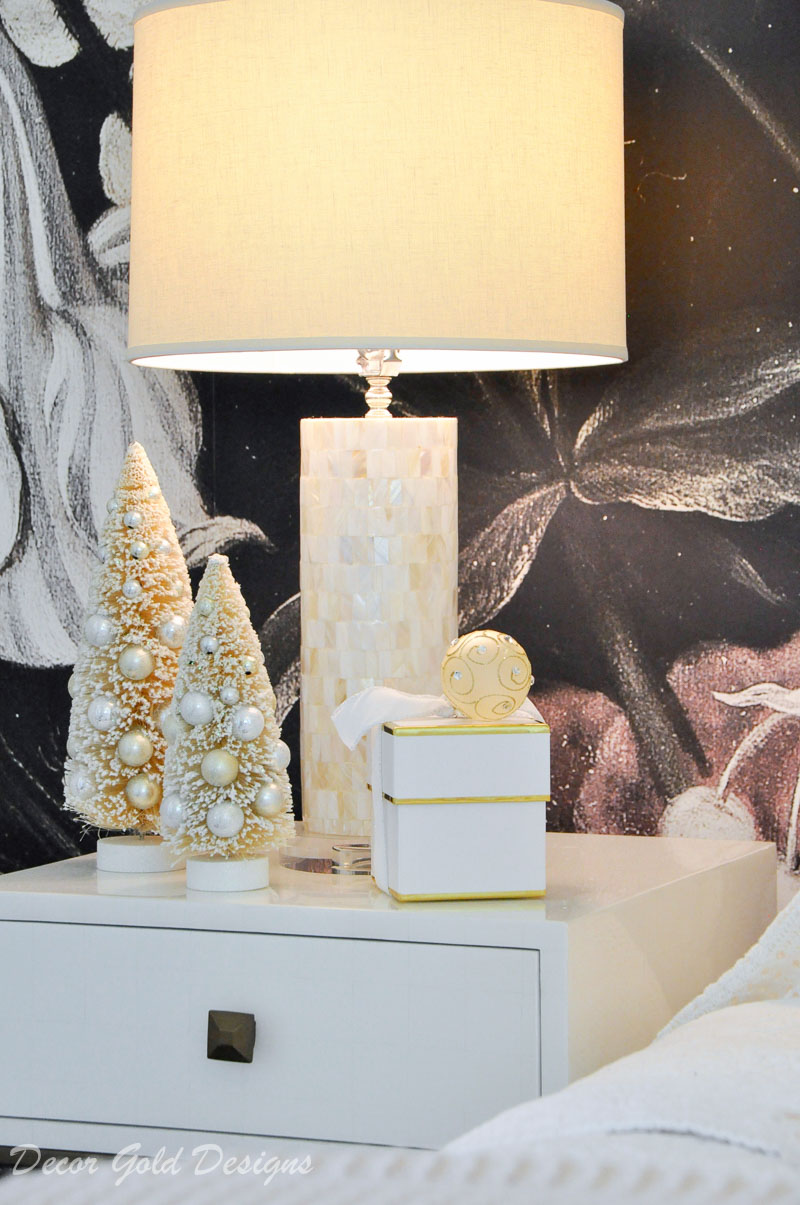 Christmas bedrooms white trees gift box