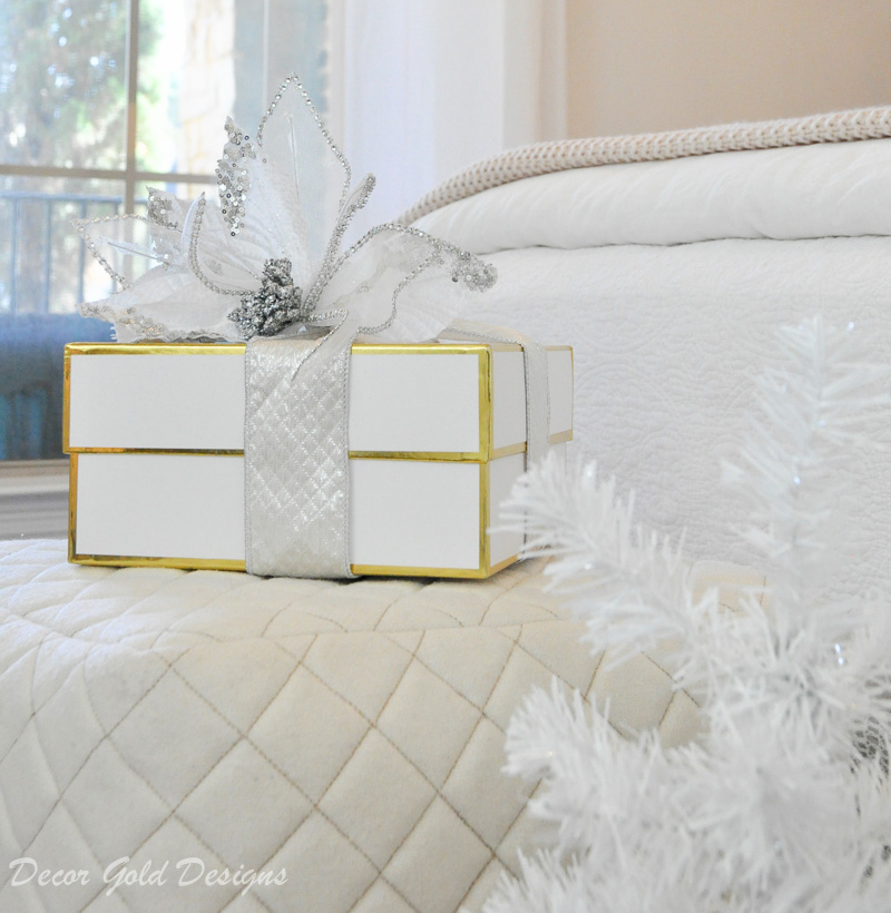 Christmas bedroom white bright