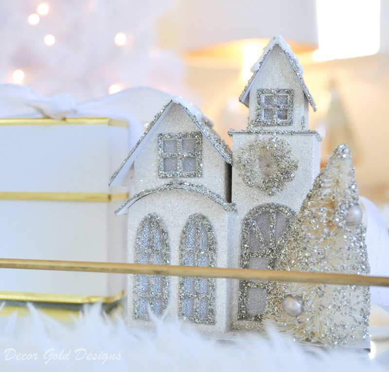 Christmas bedroom miniature house