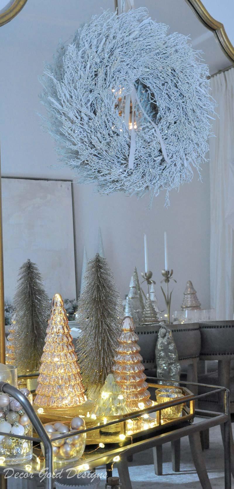 Christmas home night lights tour elegant home