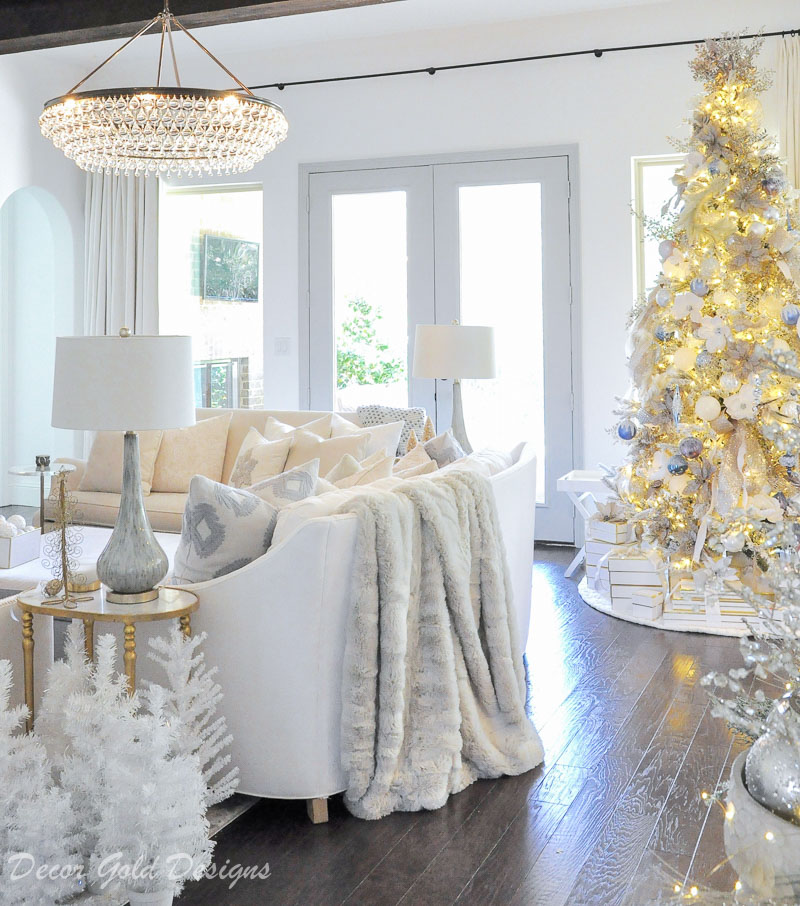 Christmas home tour white bright cozy