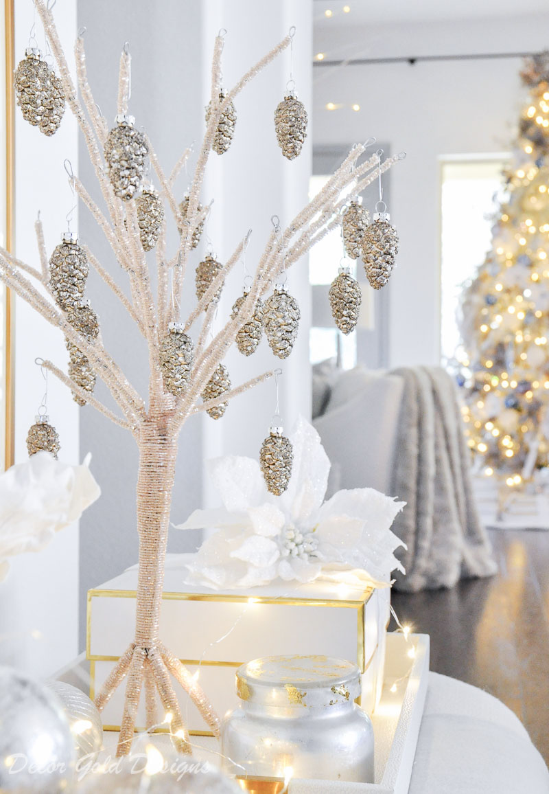 Christmas home tour beaded tree
