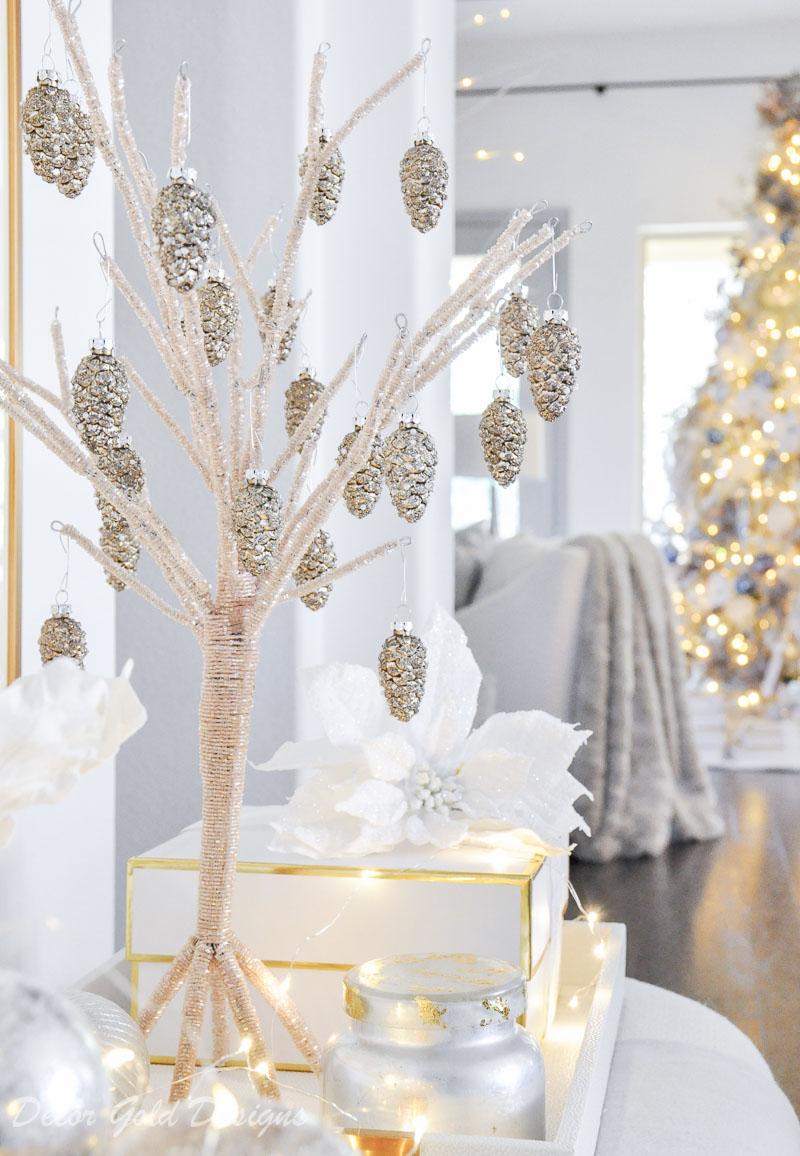 Christmas home tour beaded tree