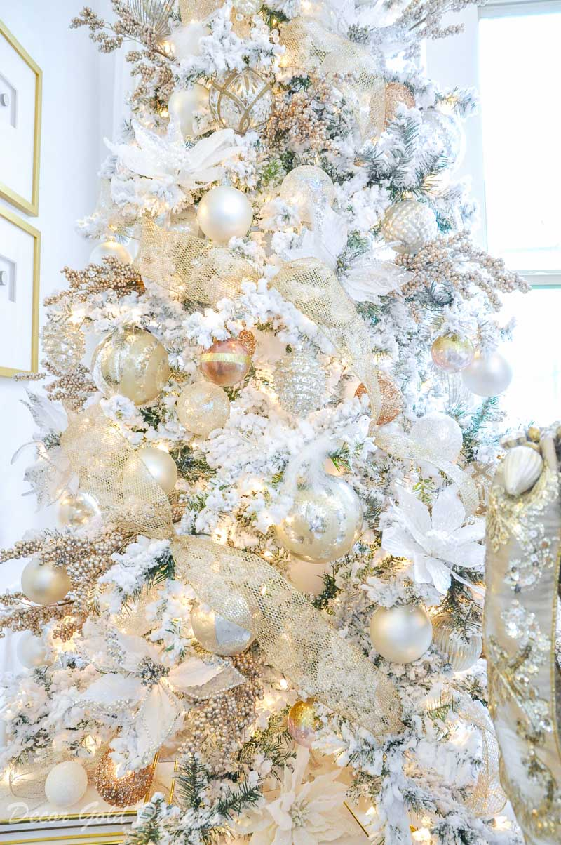 Dream Christmas Tree White Gold Rose Gold Decor Gold Designs