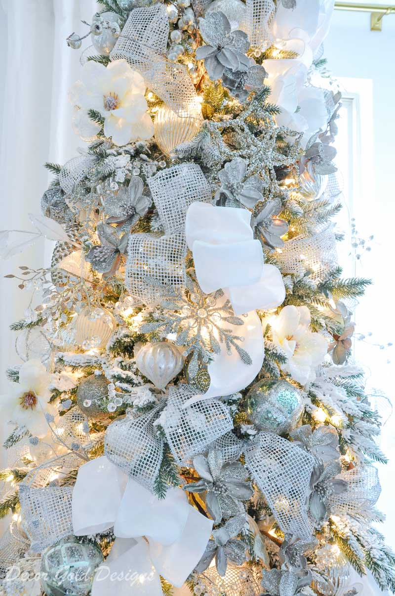 Winter White Christmas Bedrooms Decor Gold Designs