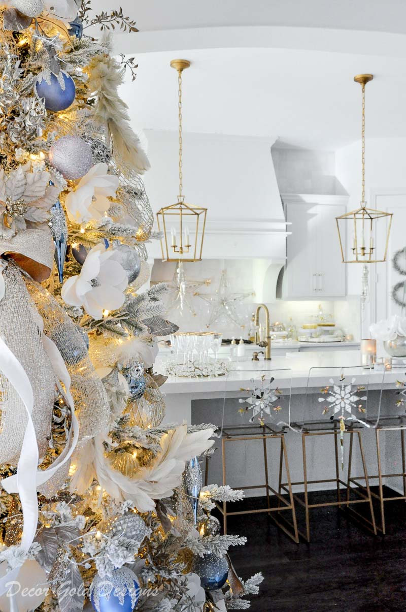 Beautiful holiday decorating kitchen new years Eve