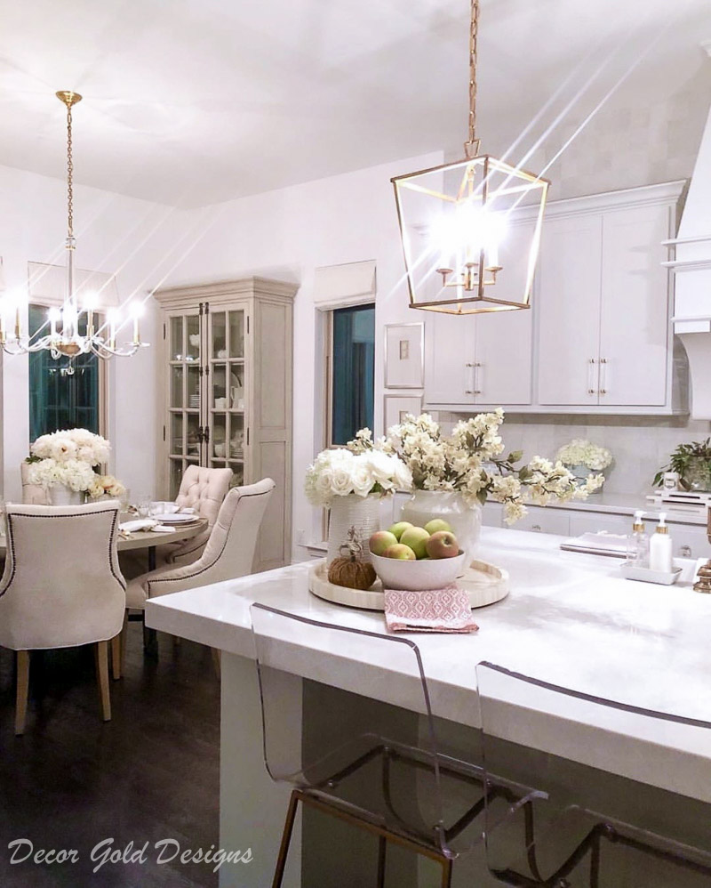 Instagram post beautiful kitchen at night