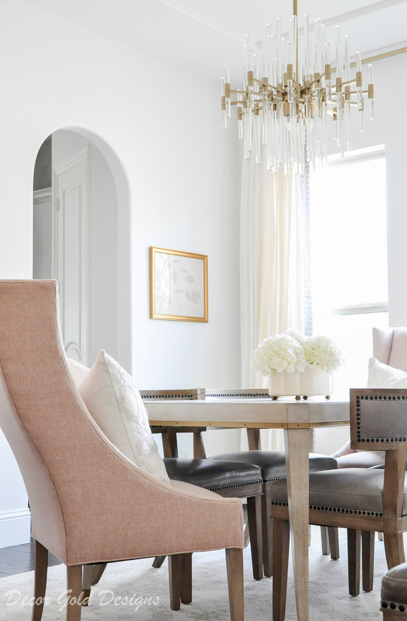 dining room blush end chairs