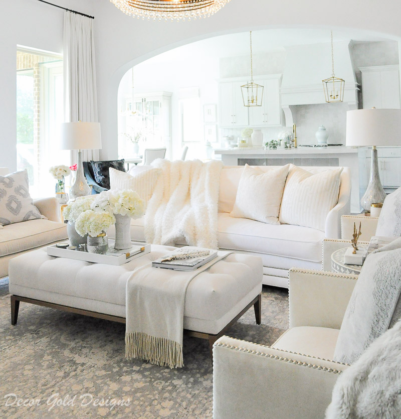 living room white furnishings elegant design