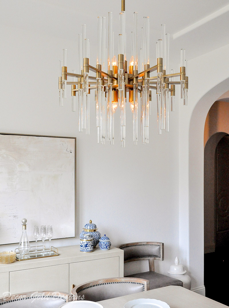 glam dining room chandelier transitional design