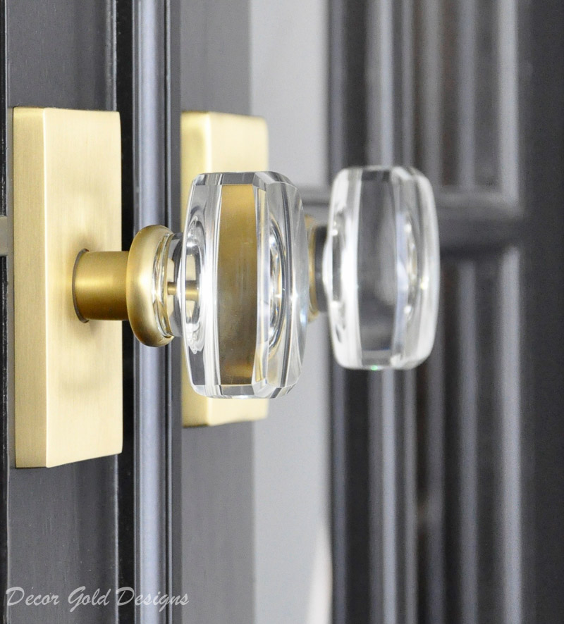 gorgeous glass door knobs