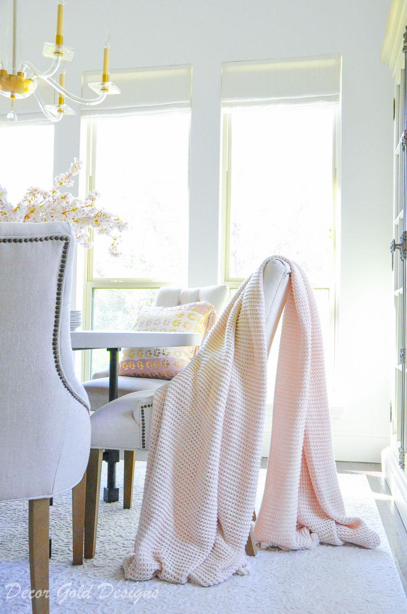 blush pink oversized throw blanket