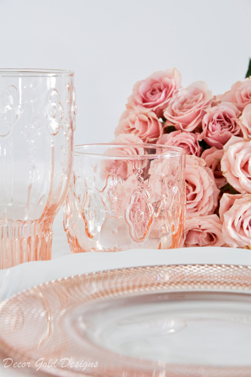 blush place setting so gorgeous