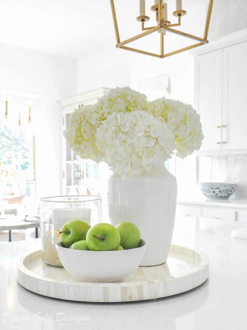 white home accessories kitchen vignette