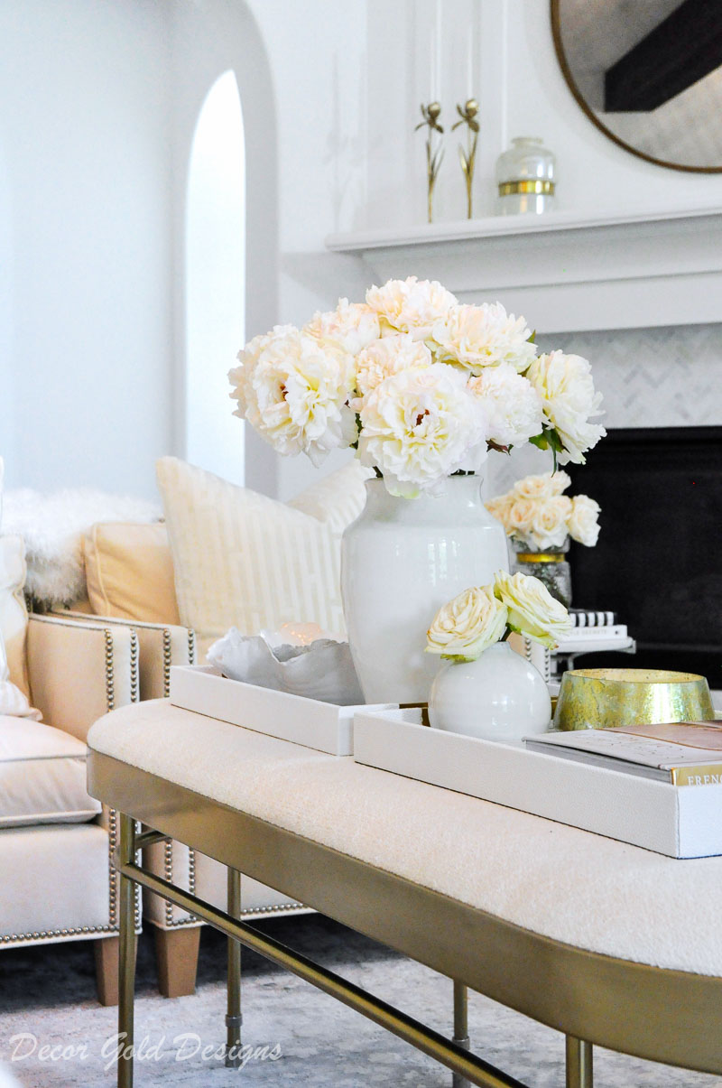 faux flowers beautifully styled vase living room