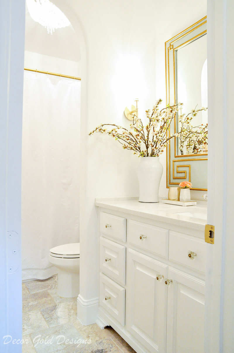 Elegant Powder Bathroom Reveal Decor Gold Designs
