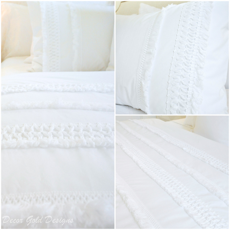 Wow guests white bedding details
