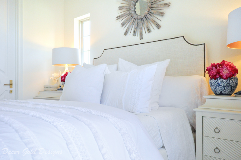 Wow your guests beautiful bedroom white bedding