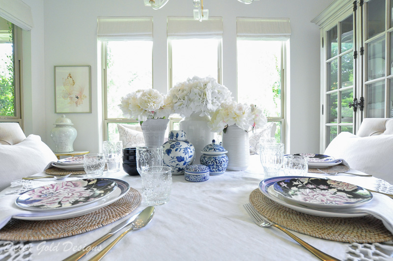 Beautiful breakfast dining table set