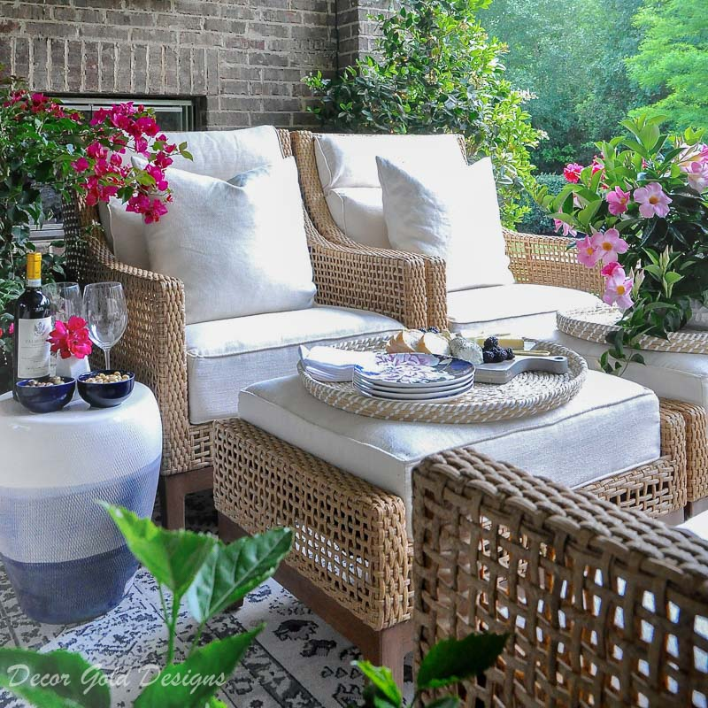 Wow your guests relaxing patio area