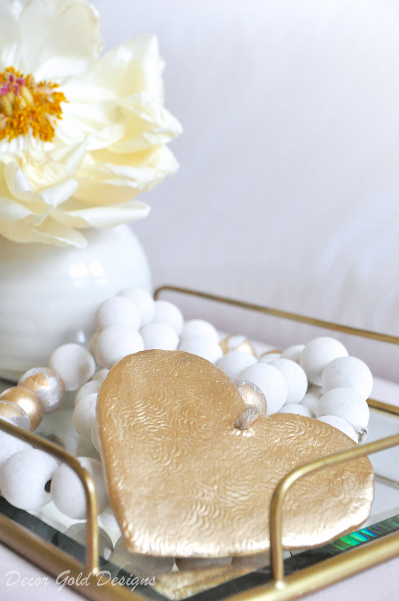 beautiful designer bedroom heart bead accessory