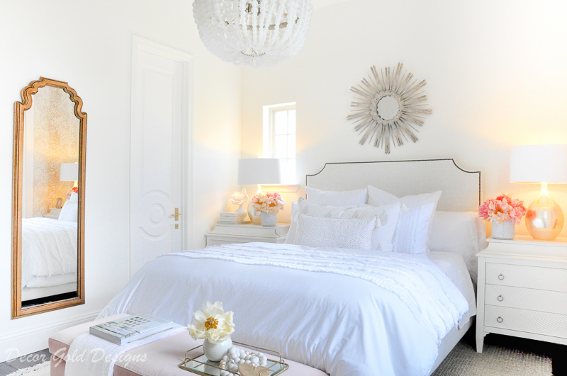 Beautiful designer bedroom white color scheme