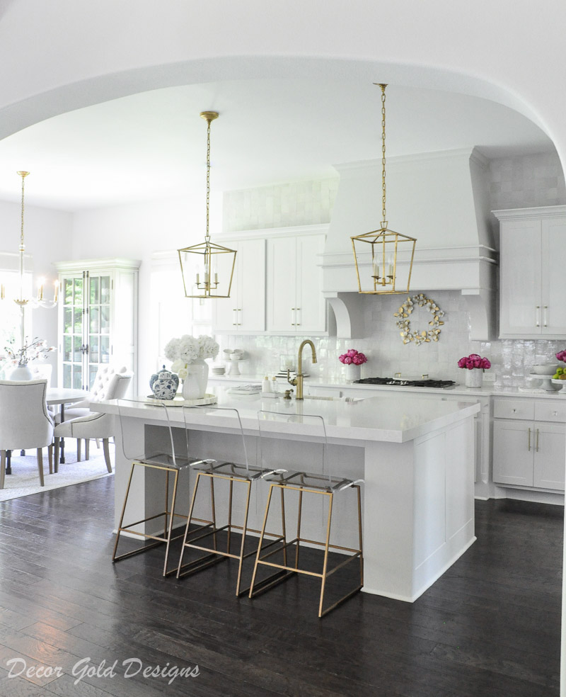 Styled for summer home tour bright kitchen
