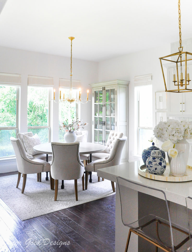 summer home tour styled kitchen breakfast nook