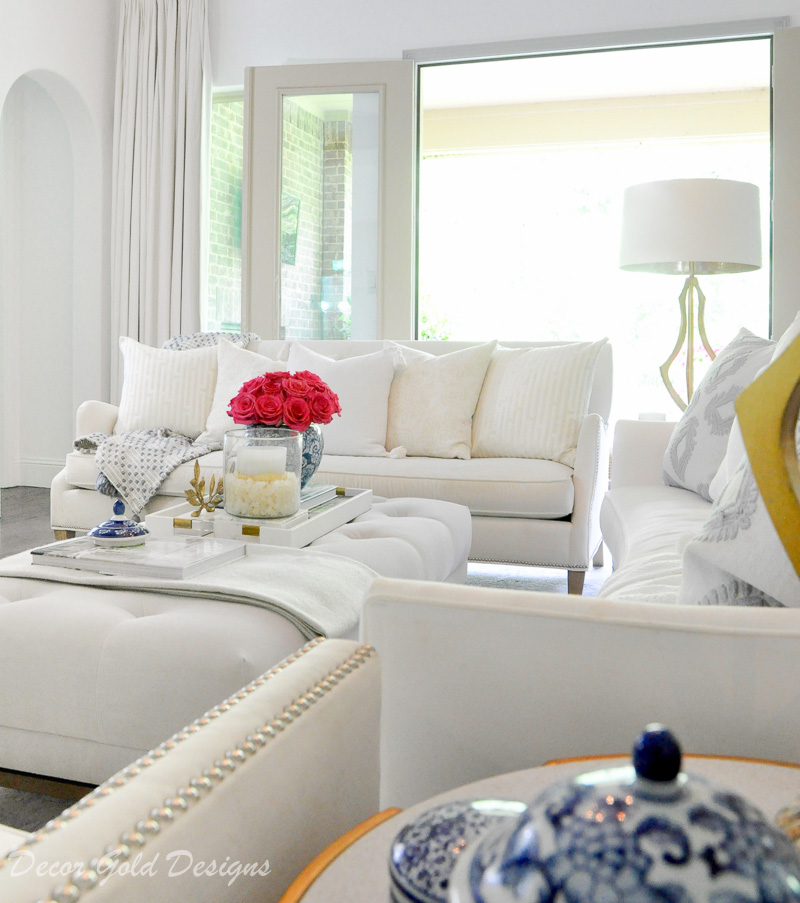 Beautiful summer home tour bright sunny seasonally styled living room