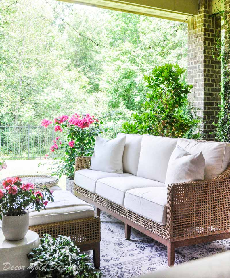 Beautiful summer home tour styled patio