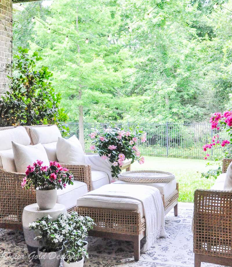 Summer home tour styled patio