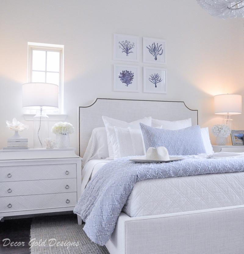 Coastal bedroom whites soft blues
