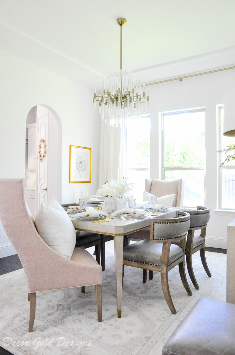 Blush pink tabletop essentials