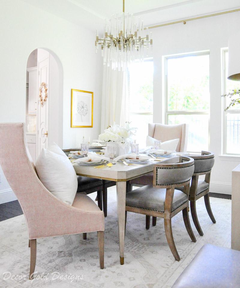 Dining Room Decor Gold Designs, Gold Dining Room Ideas