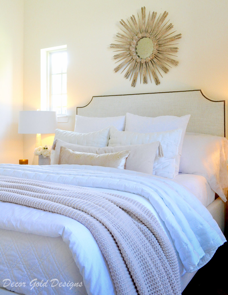 cozy home soft white layered bedding