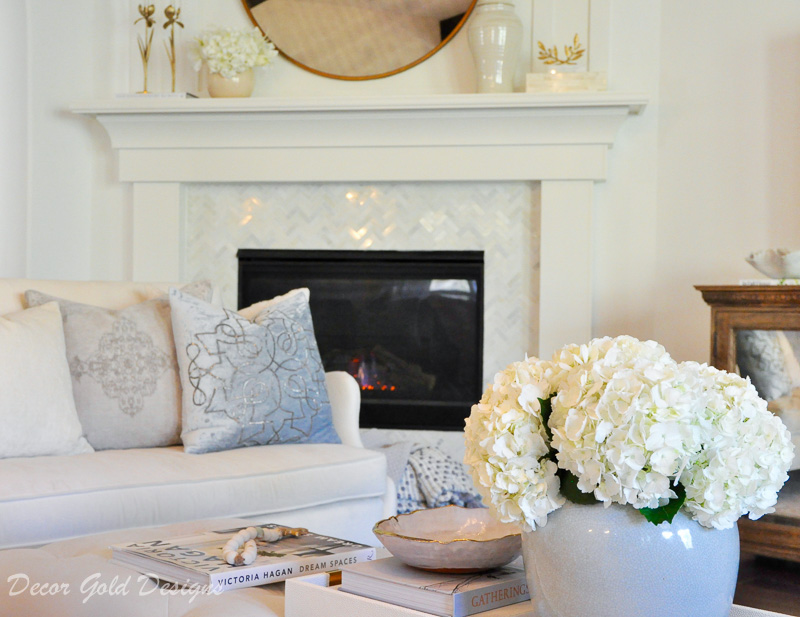 cozy home white fireplace