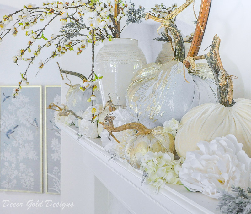Beautiful fall home tour artistic decorative pumpkins