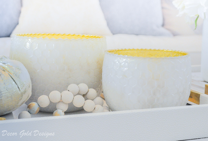 Elegant fall home tour decor beautiful white candles