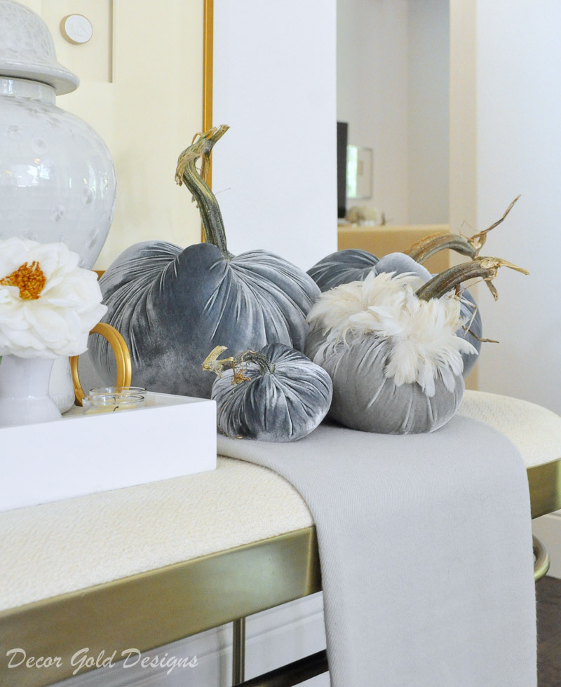 Lovely fall home tour gorgeous blue pumpkins
