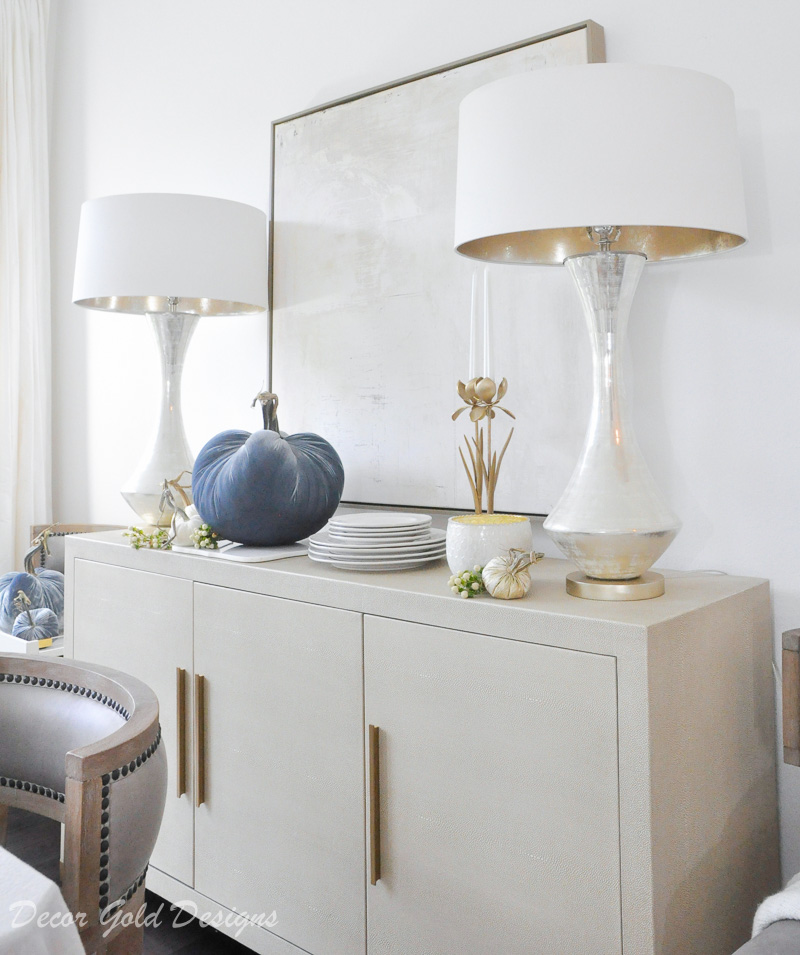 fall home tour dining room console decor